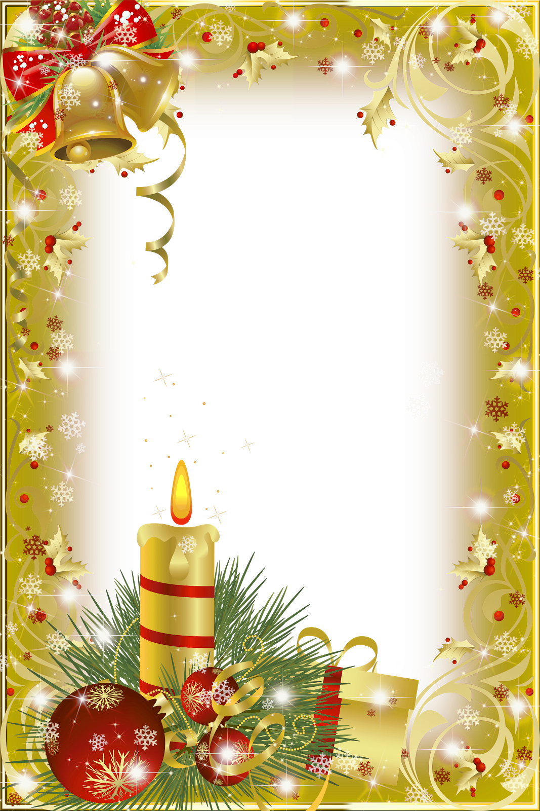 Gold christmas clipart svg black and white Gold Transparent Christmas Photo Frame | Gallery Yopriceville ... svg black and white
