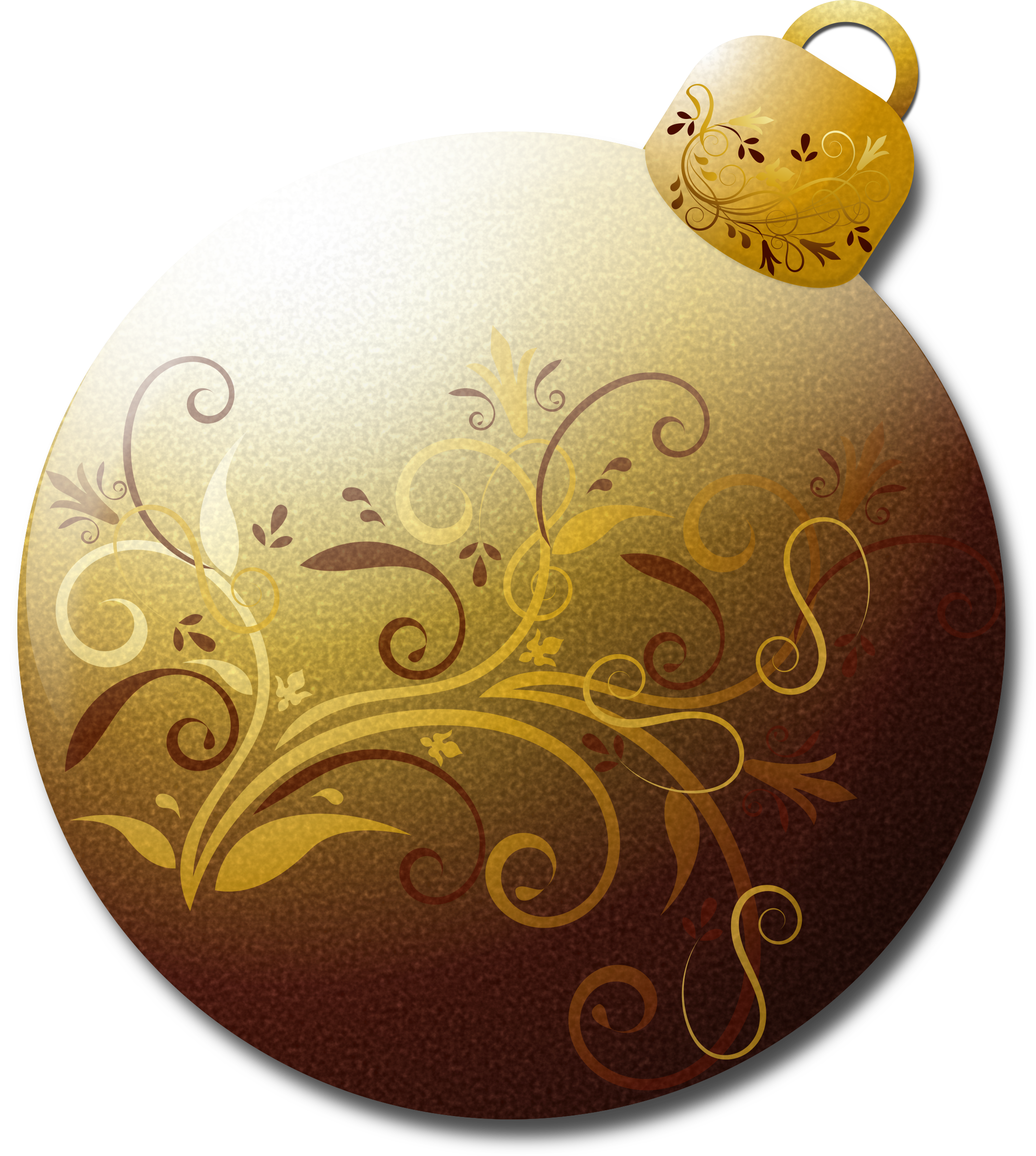 Gold christmas ornament clipart clip black and white library Clipart - Gold Glass Ornament 1 clip black and white library