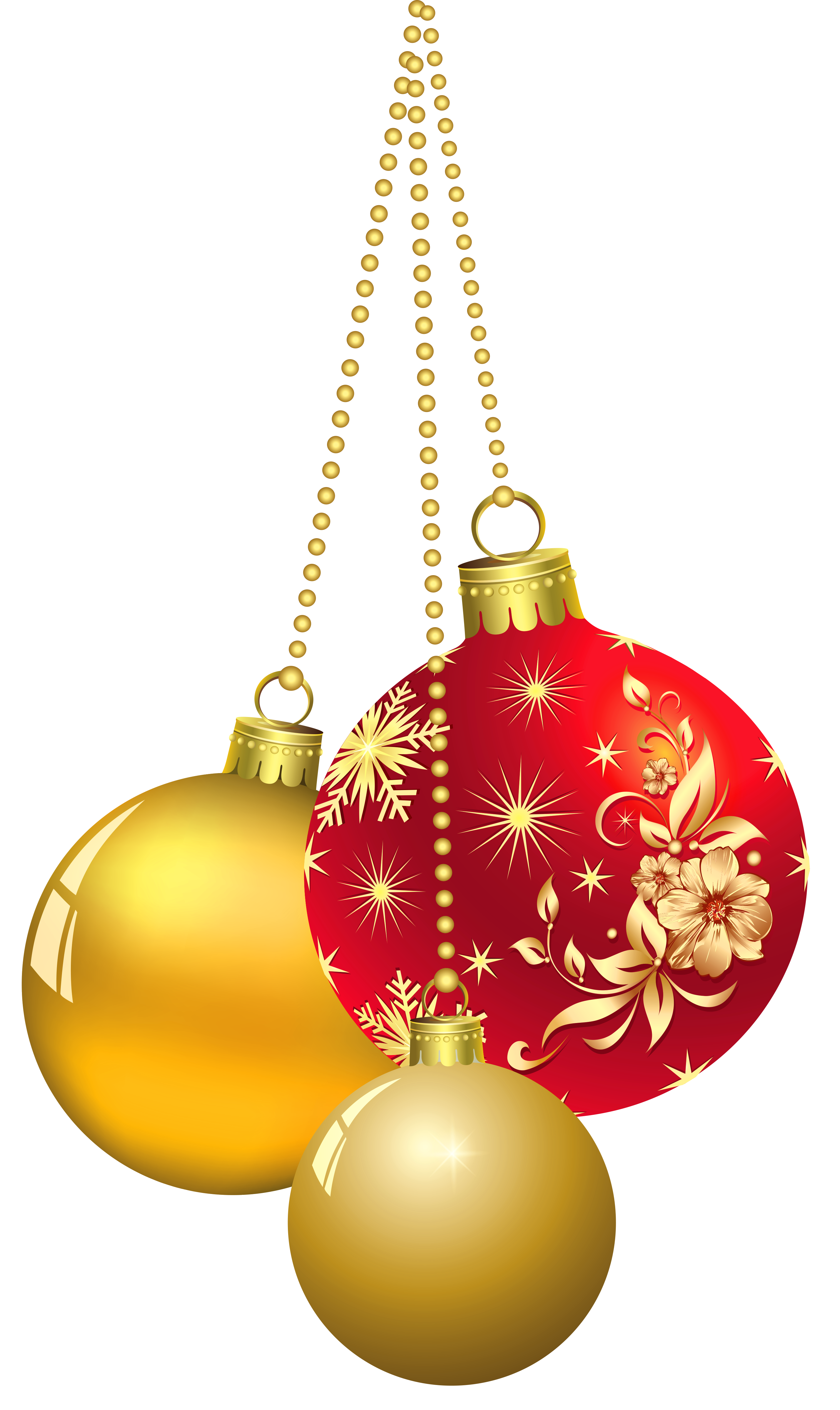 Gold christmas ornament clipart clip art stock Transparent Christmas Ornaments PNG Clipart | Gallery Yopriceville ... clip art stock