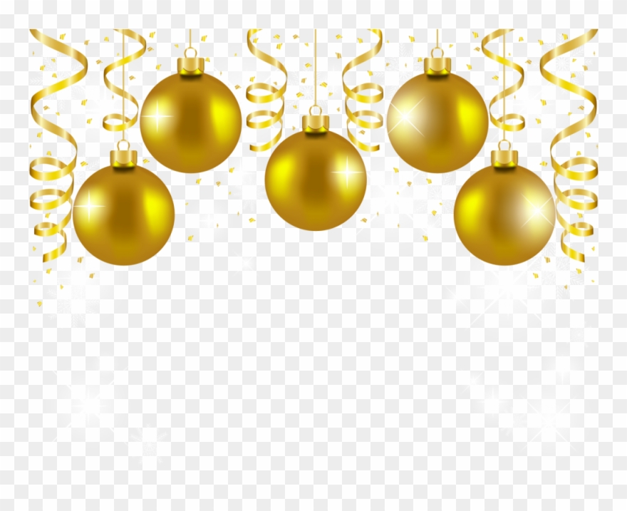 Gold christmas ornaments clipart picture black and white library Download Gold Christmas Balls Png Clipart Christmas - Gold Christmas ... picture black and white library
