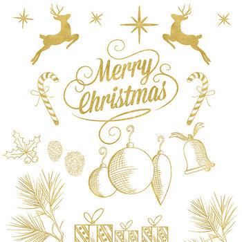 Gold christmas ornaments clipart vector transparent download Christmas Clip Art, Gold X-Mas, Gold Christmas Ornaments vector transparent download