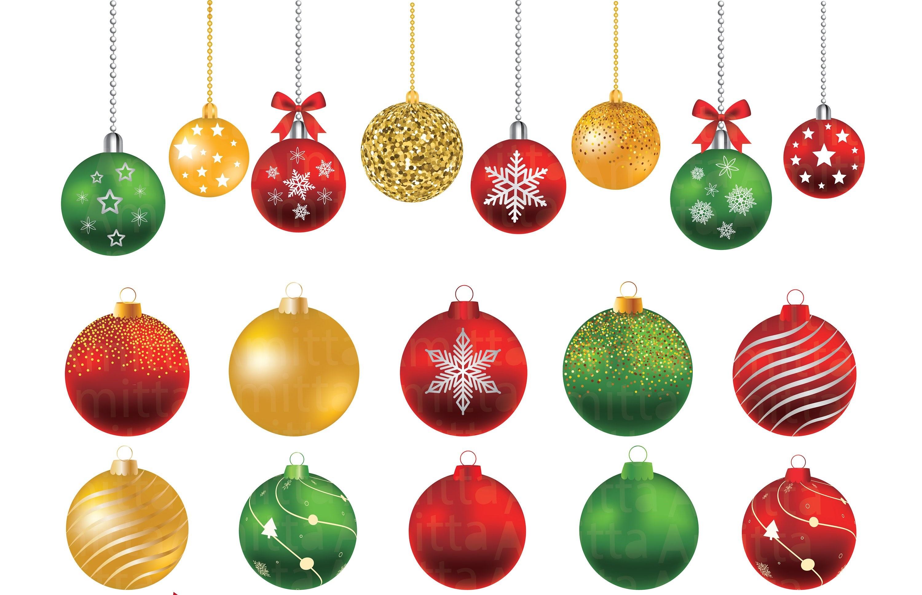 Gold christmas ornaments clipart graphic freeuse Christmas balls Clipart set - Christmas Ornaments Clipart graphic freeuse