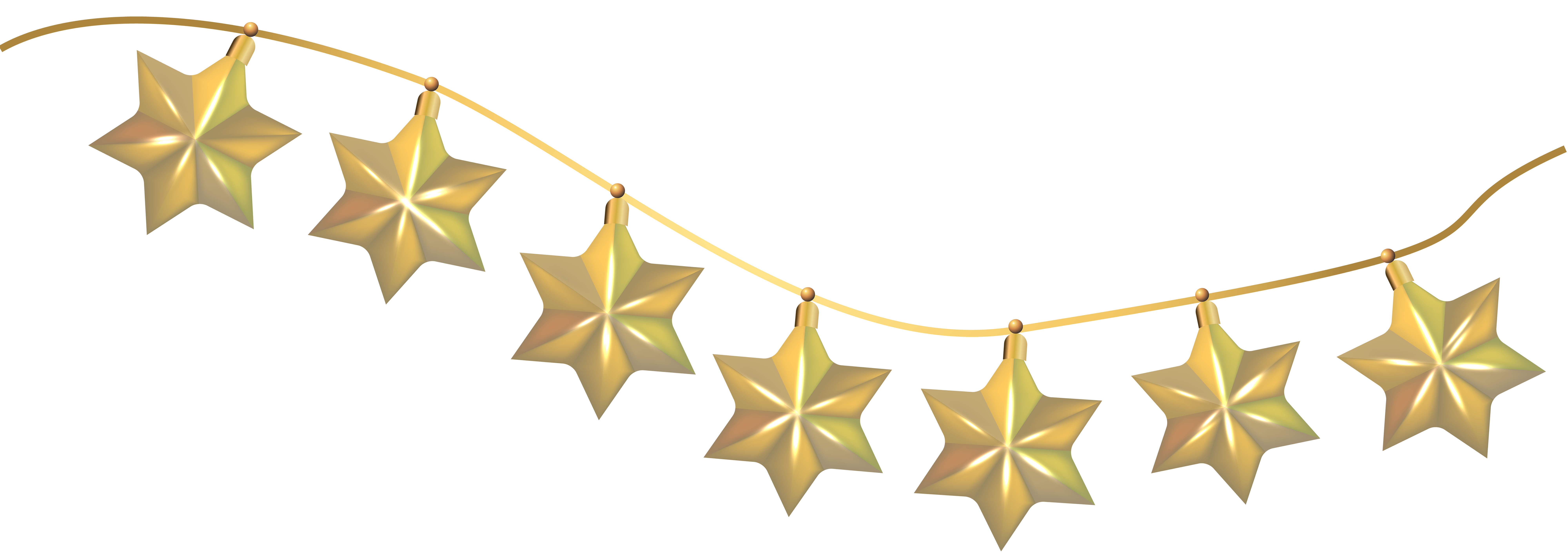 Hanging star clipart free download Santa Claus Christmas gift Clip art - Hanging Stars Decoration PNG ... free download