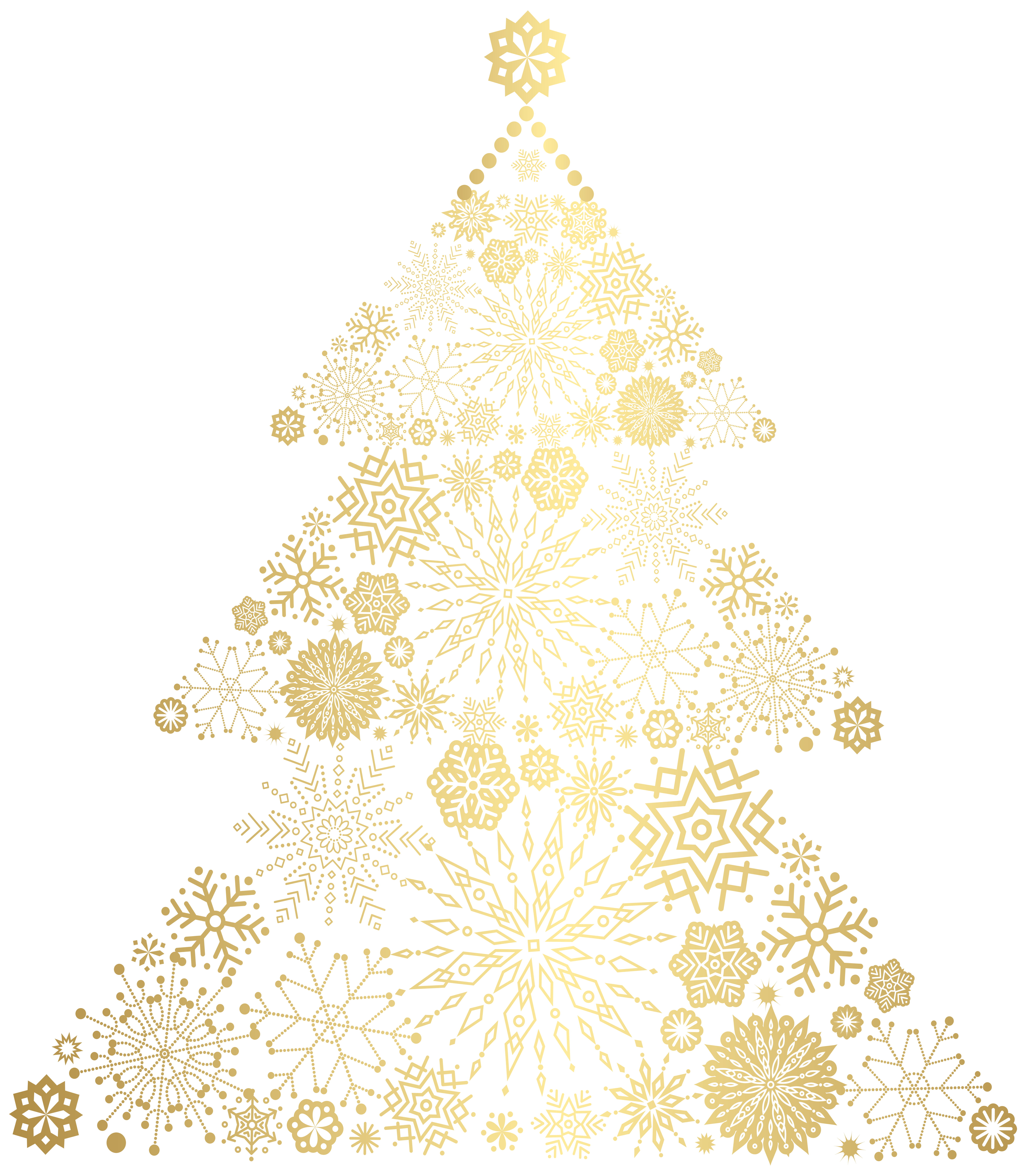 Gold christmas tree clipart banner royalty free download Christmas tree Pattern - Christmas Gold Tree PNG Clip Art Image 6984 ... banner royalty free download