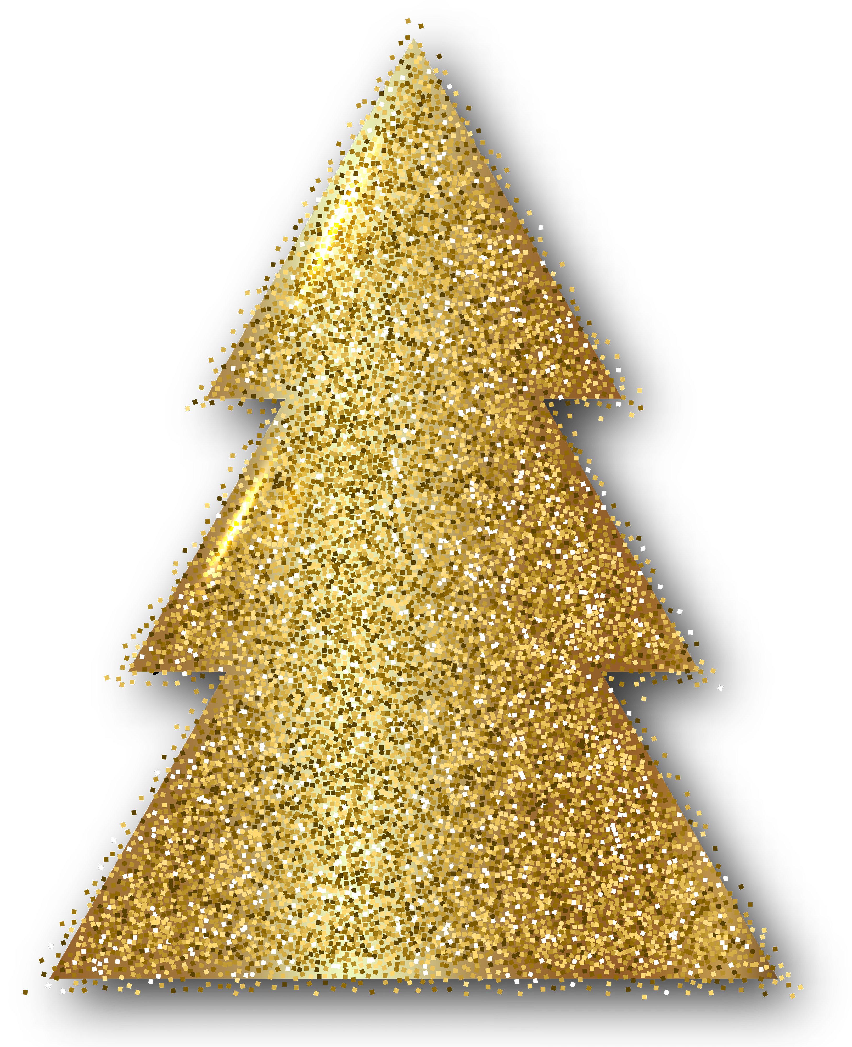 Gold christmas tree clipart vector black and white Gold Christmas Tree Clip Art PNG Image | Gallery Yopriceville ... vector black and white