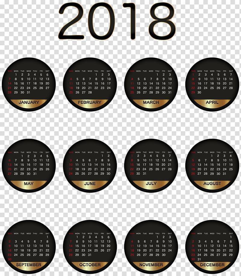 Gold clip art heart april 21 2018 clipart graphic black and white stock 2018 year calendar, Calendar , 2018 Calendar Black Gold transparent ... graphic black and white stock