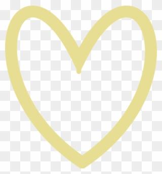 Gold clip art heart april 21 2018 clipart picture library library Clip Art - Gold Heart Outline Clipart - Png Download (#1483077 ... picture library library