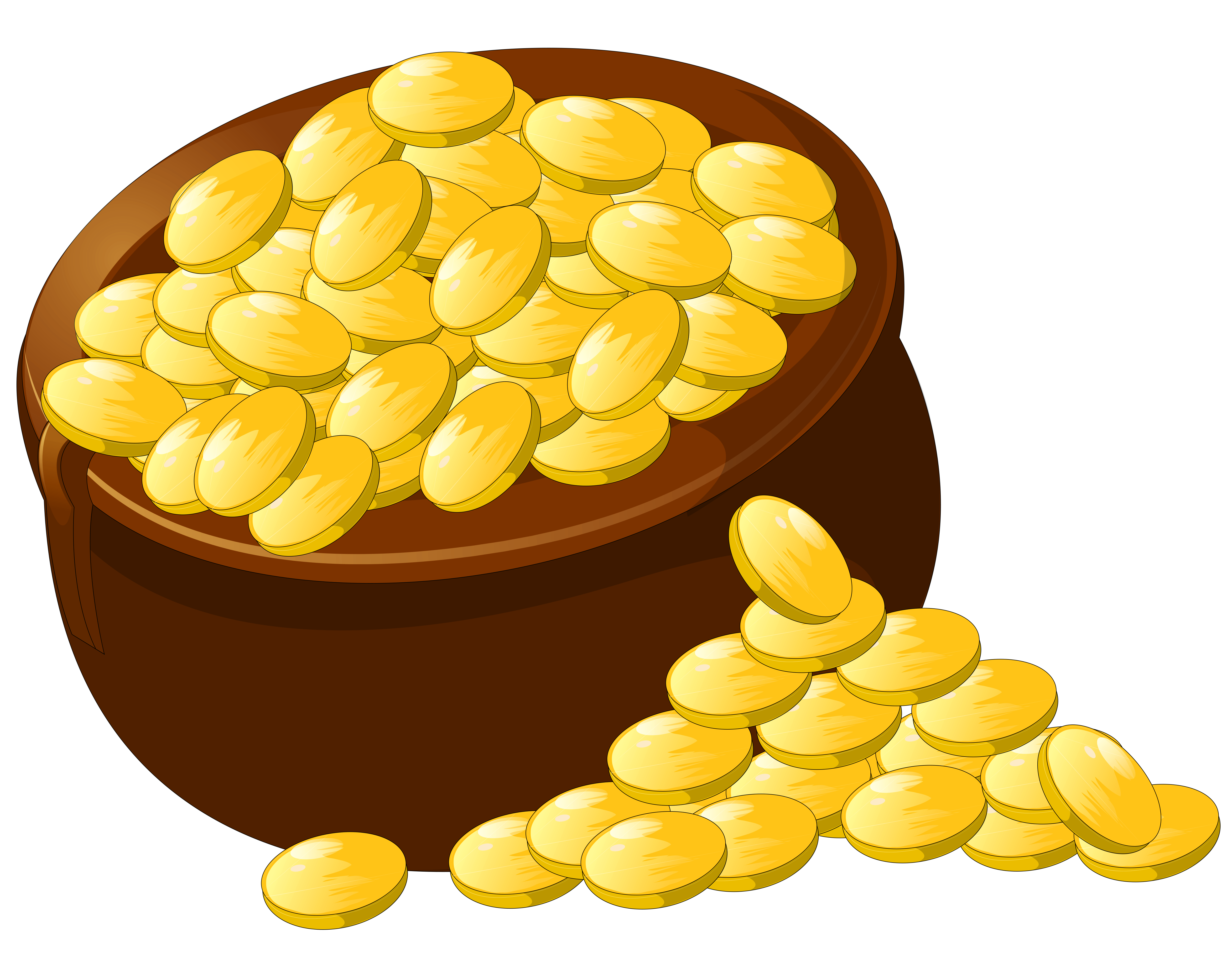 Gold clipart picture royalty free stock Transparent Pot of Gold PNG Picture Clipart | Gallery Yopriceville ... picture royalty free stock