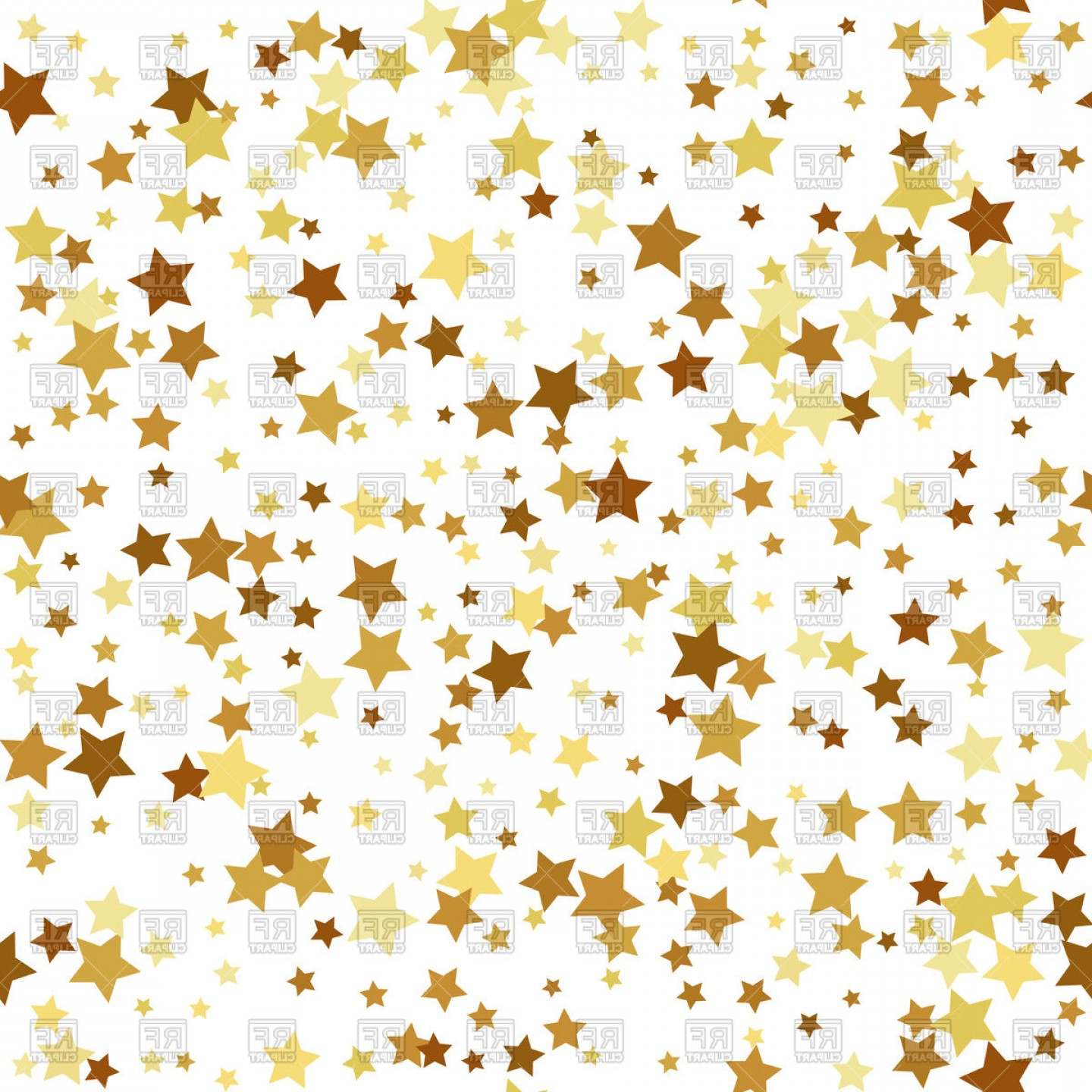 Gold clipart background jpg free library Gold Star Seamless Pattern Background Vector Clipart | SOIDERGI jpg free library