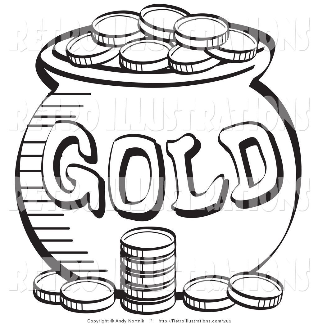 Gold clipart black and white graphic royalty free download Pot of gold clipart black and white 4 » Clipart Portal graphic royalty free download