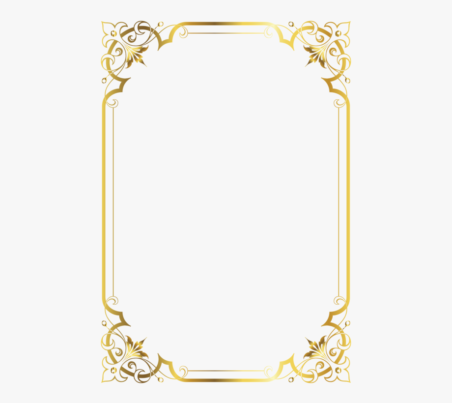 Gold clipart frame image free stock Invitation Clipart Border - Frame Border Design Gold #2629552 - Free ... image free stock