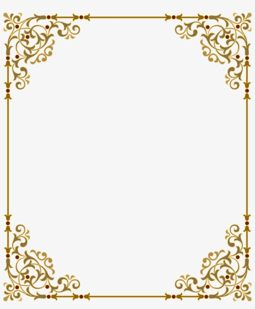 Gold clipart frame clip black and white download Download Gold Frame Png Clipart Clip Art Gold Text - Border Frame ... clip black and white download