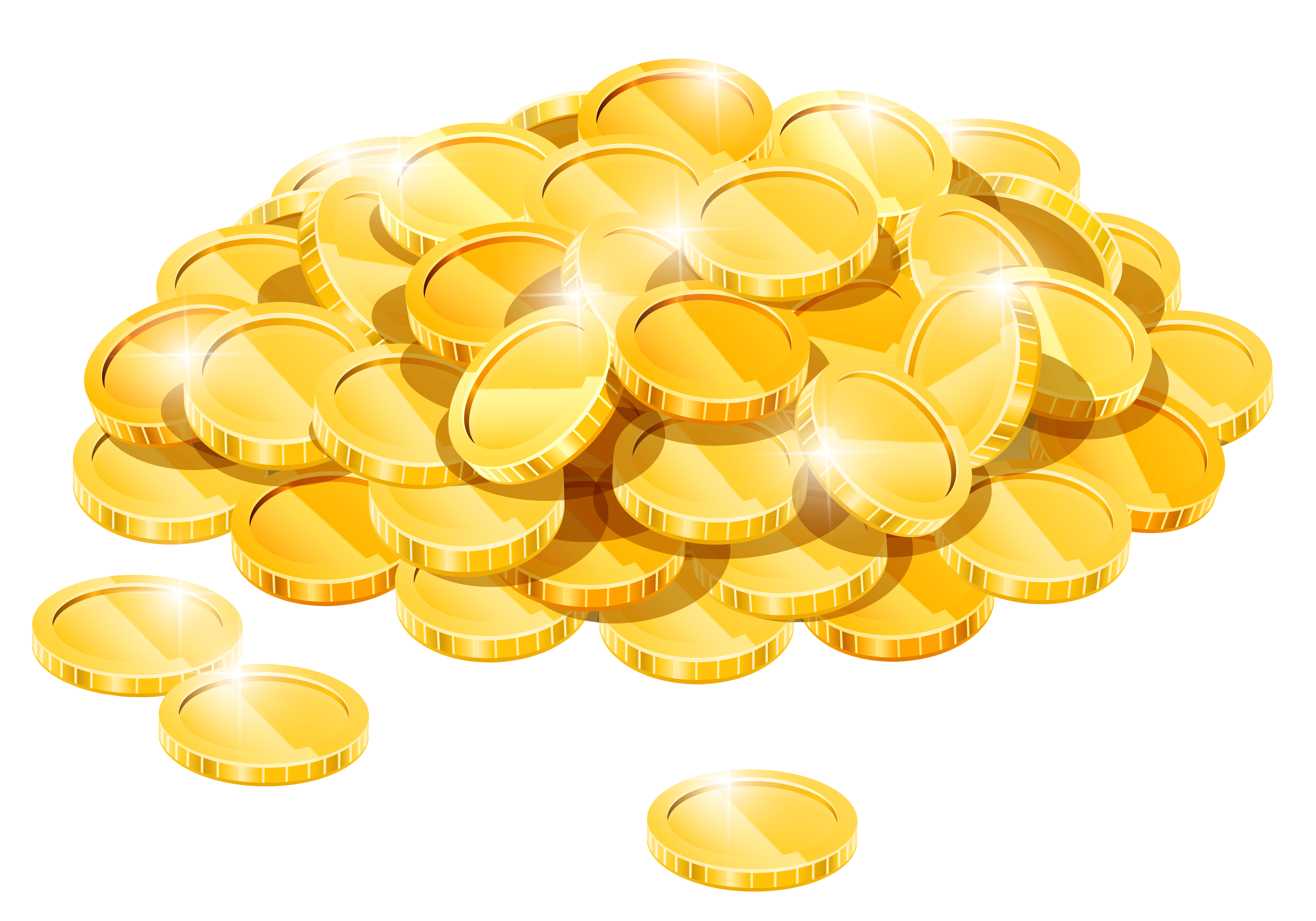 Gold coin clipart no background - Clip Art Library vector royalty free