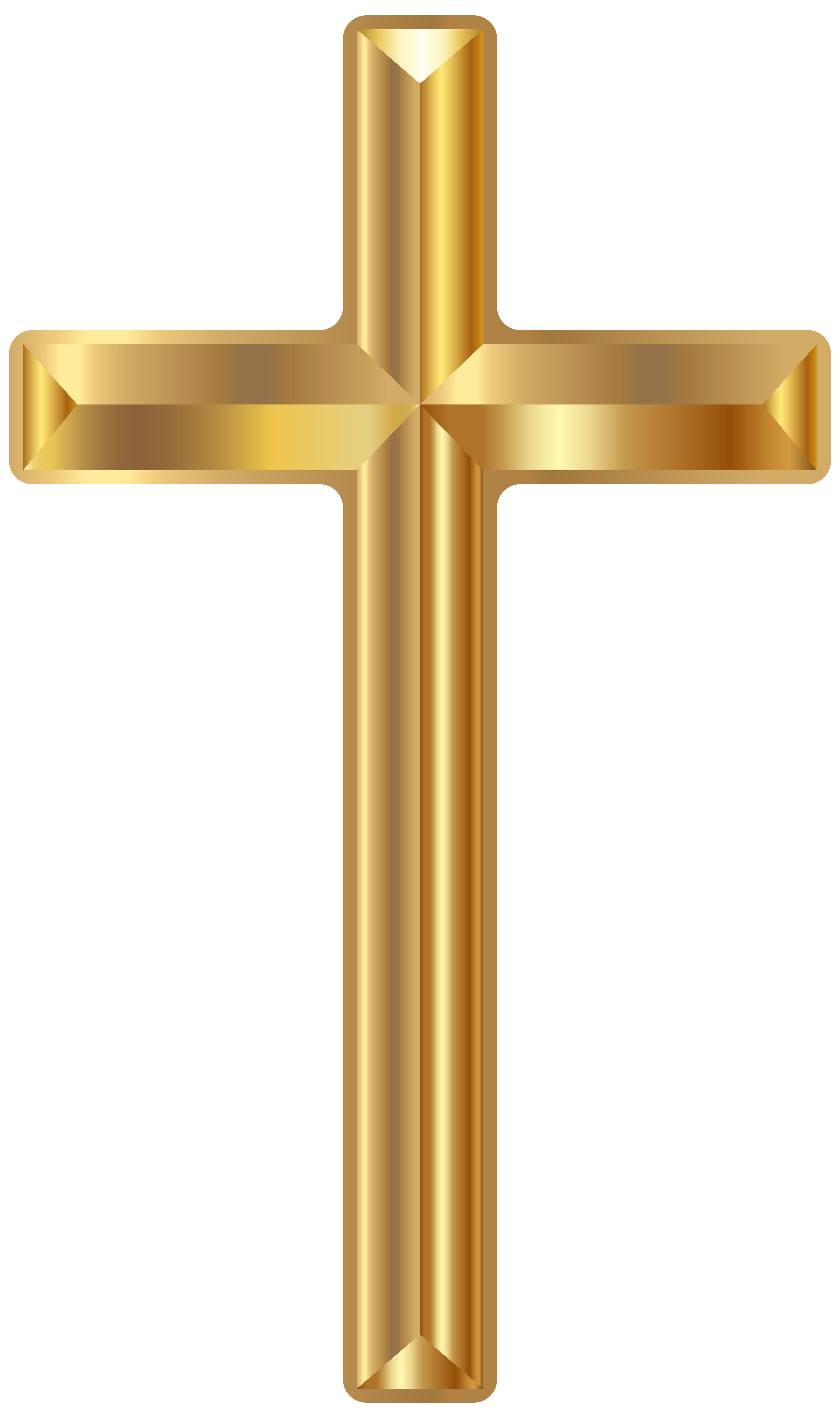 Gold cross baptism clipart banner royalty free Gold Cross PNG Transparent Clip Art Image | Gallery Yopriceville ... banner royalty free