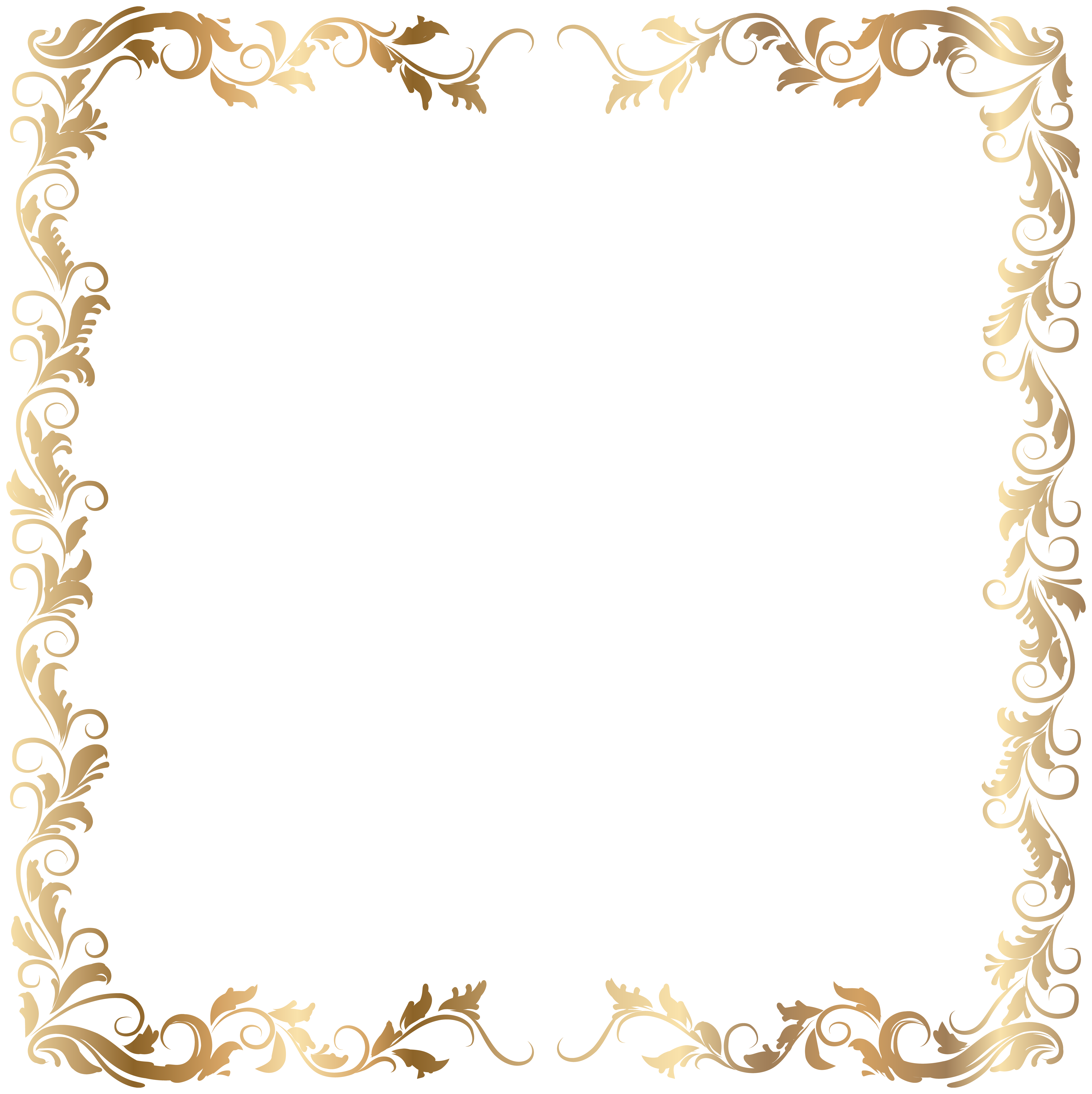 Queen crown broder clipart jpg free library Border Deco Frame Gold Transparent PNG Image | mara | Pinterest ... jpg free library