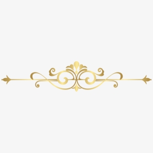 Gold decorative lines clipart picture black and white stock Decorative Line Gold Clipart Divider - Decoration Transparent Gold ... picture black and white stock