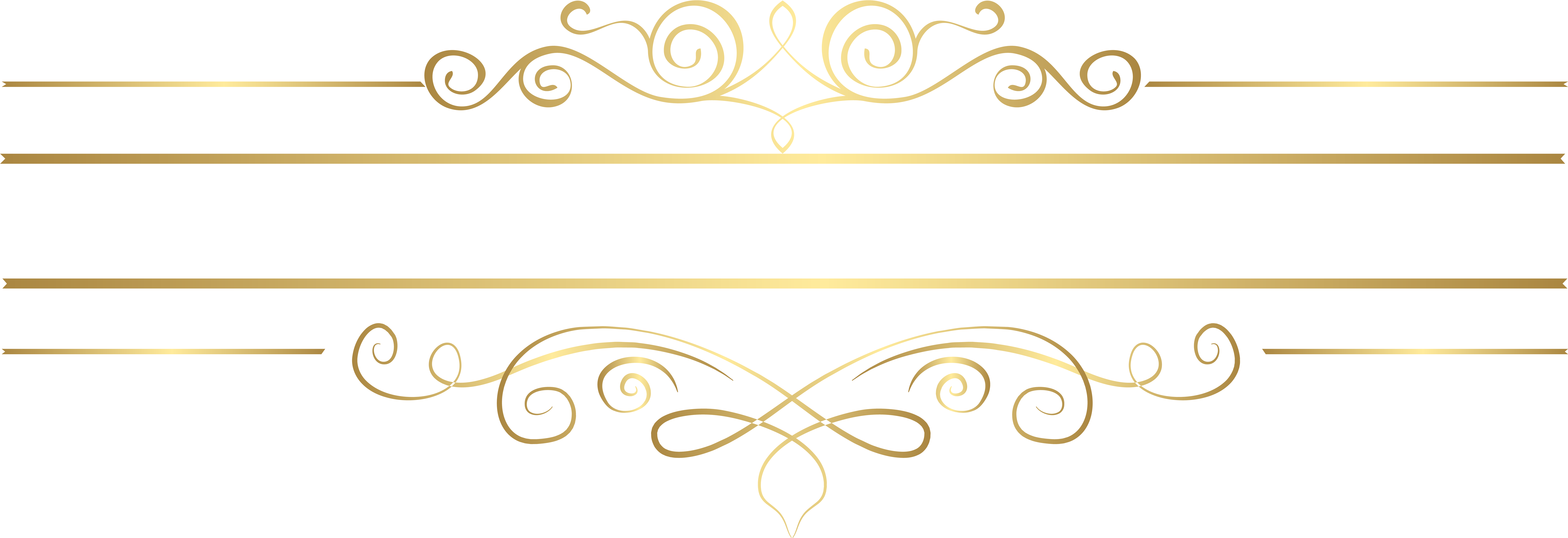 Gold decorative lines clipart banner freeuse download HD Gold Decorative Lines Png Transparent Background - Decorative ... banner freeuse download