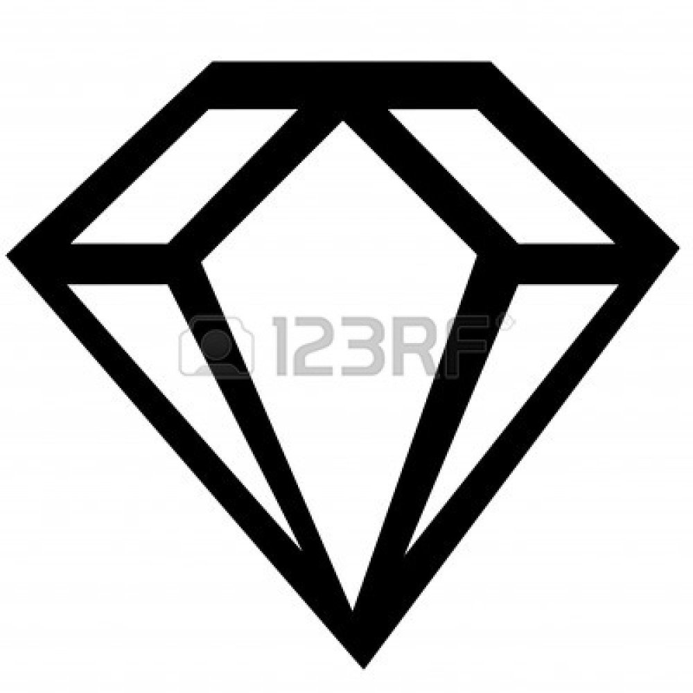 Gold diamond shape clipart png download Diamond Shape Clip Art Black And White - best menu template design png download
