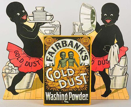 Gold dust buyers in clipart banner royalty free stock Collecting Gold Dust Twins Black Americana Memorabilia banner royalty free stock