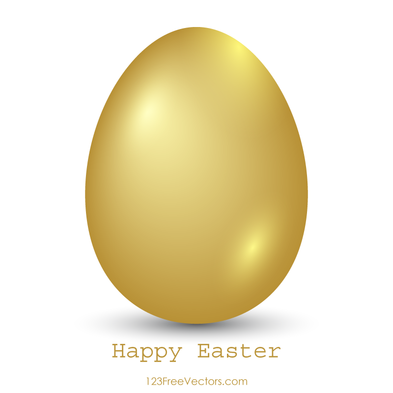 Gold easter egg clipart image freeuse library Easter Eggs in Grass Image | 123Freevectors image freeuse library