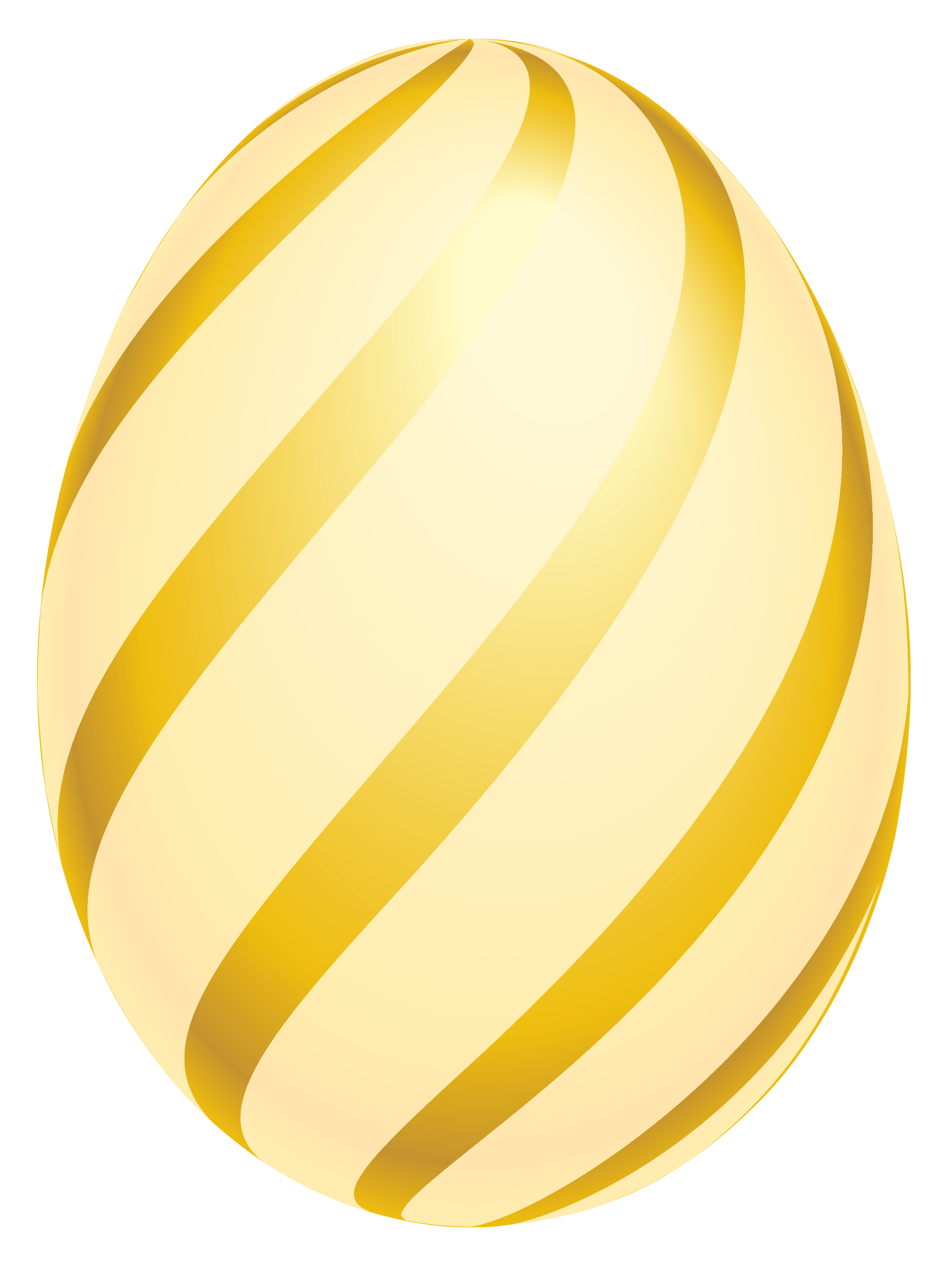 Easter Golden Striped Egg PNG Clipart Picture royalty free library