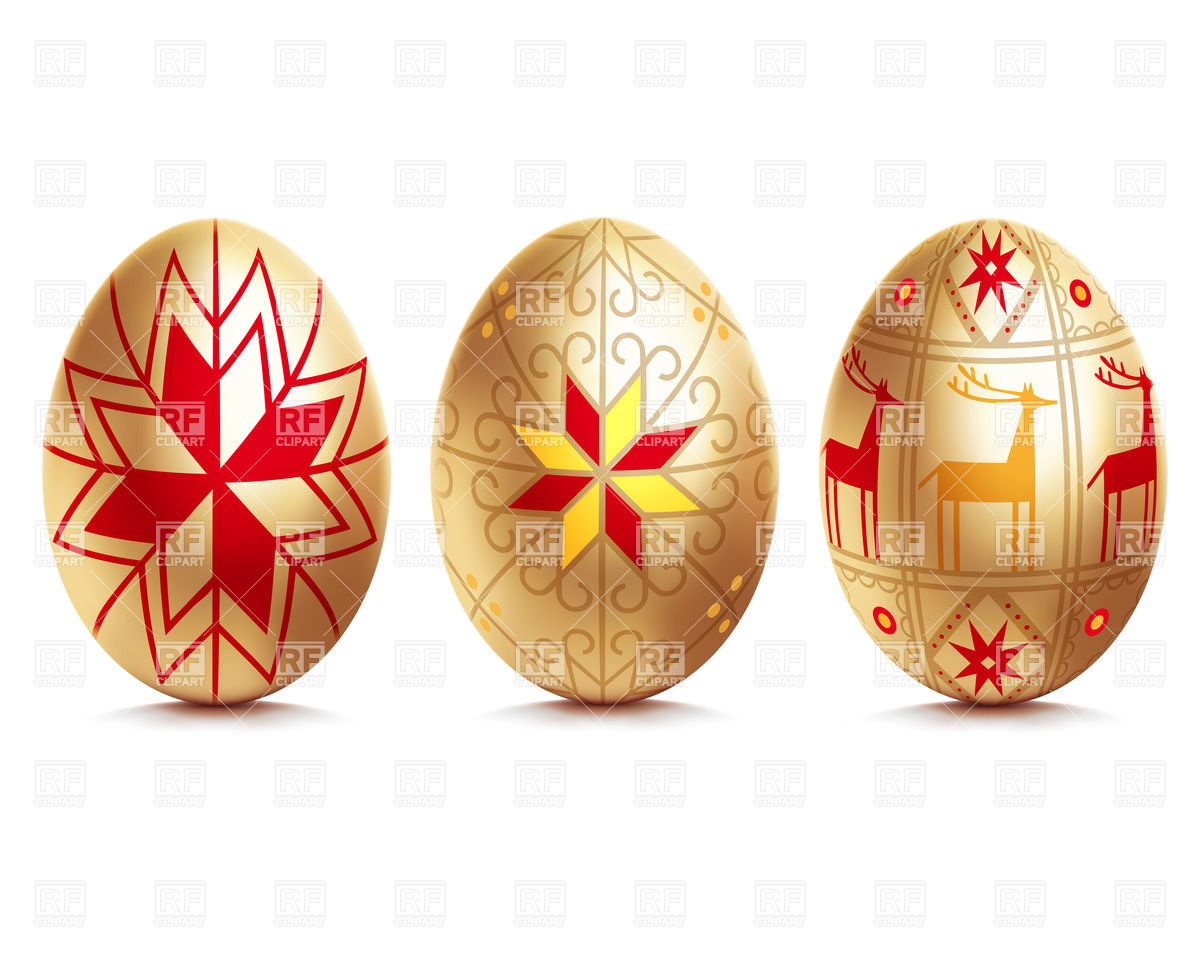 Golden Easter eggs Vector Image #26345 – RFclipart png royalty free download