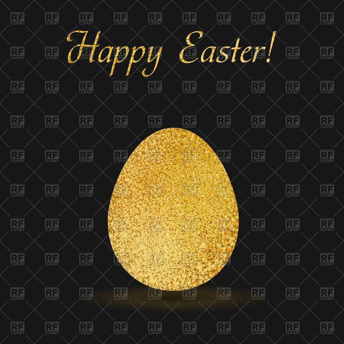 Golden Easter egg on black background Vector Image #98320 – RFclipart svg download