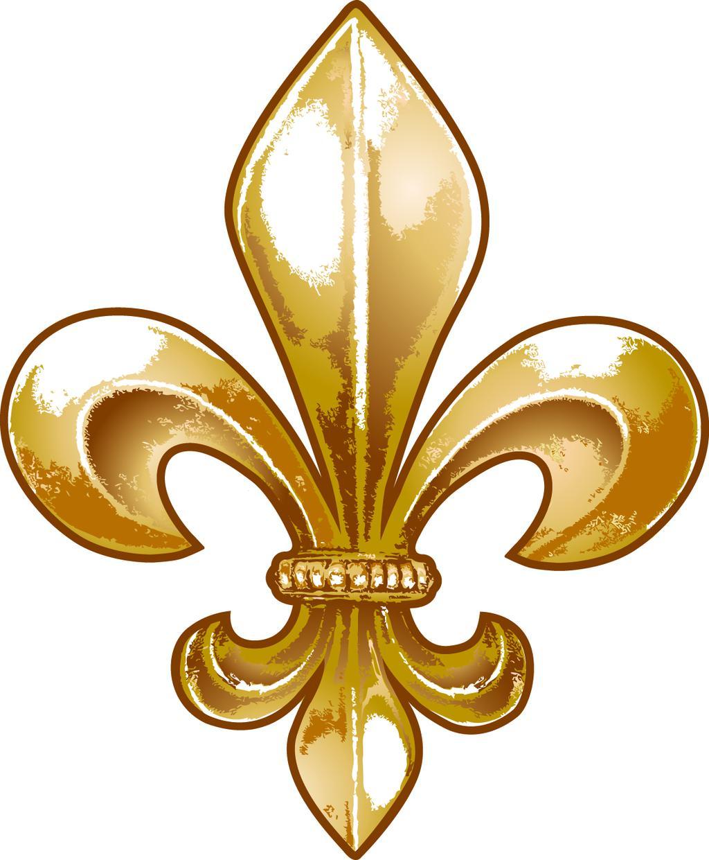 Gold fleur de lis clipart black and white Gold Fleur De Lis Clipart Abita Fluer - Clipart1001 - Free Cliparts black and white