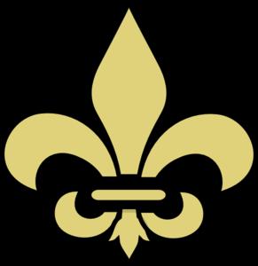 Gold fleur de lis clipart vector royalty free download Fleur De Lis Gold With Black Clip Art at Clker.com - vector clip art ... vector royalty free download