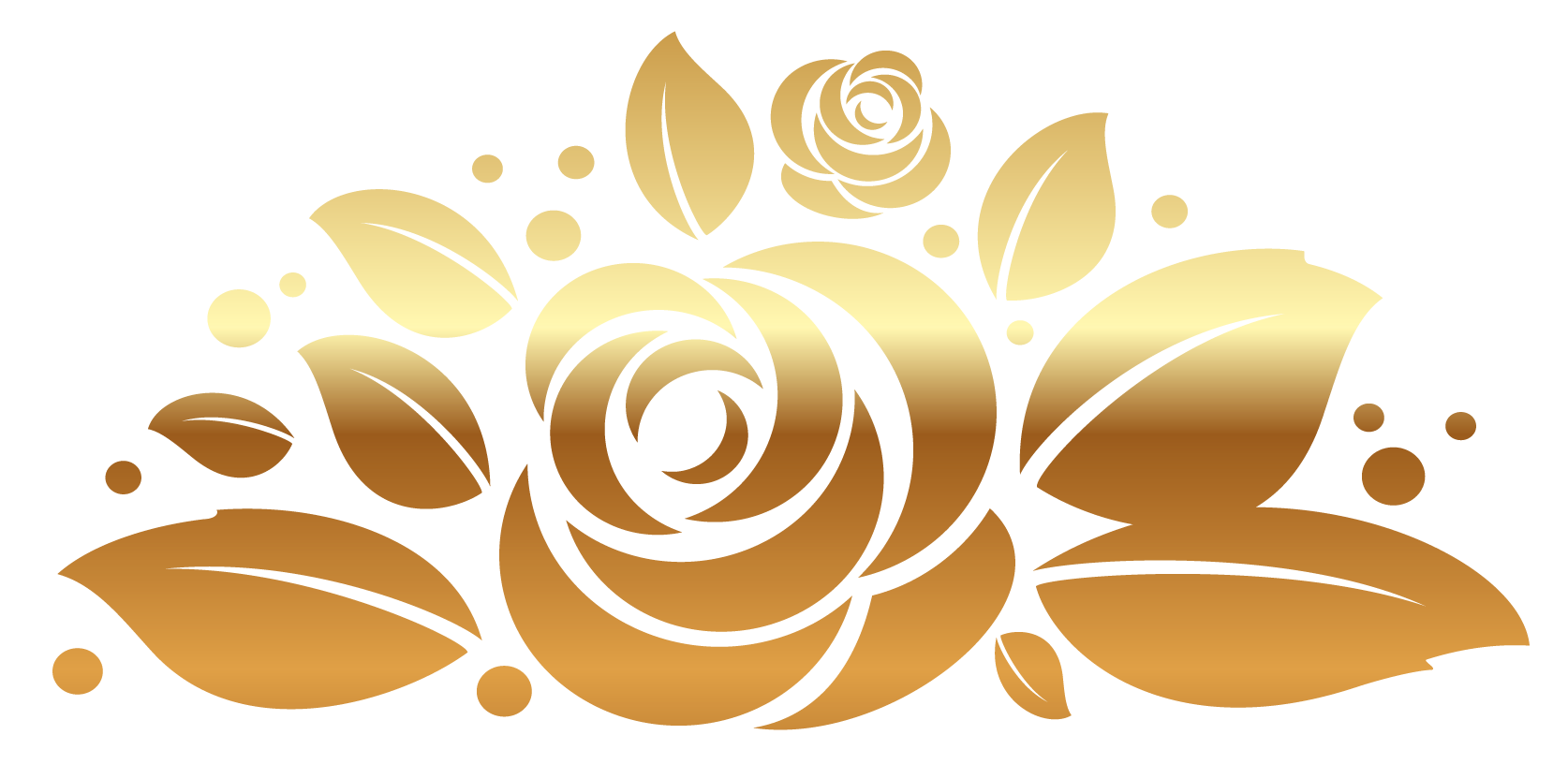 Gold floral clipart graphic black and white library Free Gold Roses Cliparts, Download Free Clip Art, Free Clip Art on ... graphic black and white library