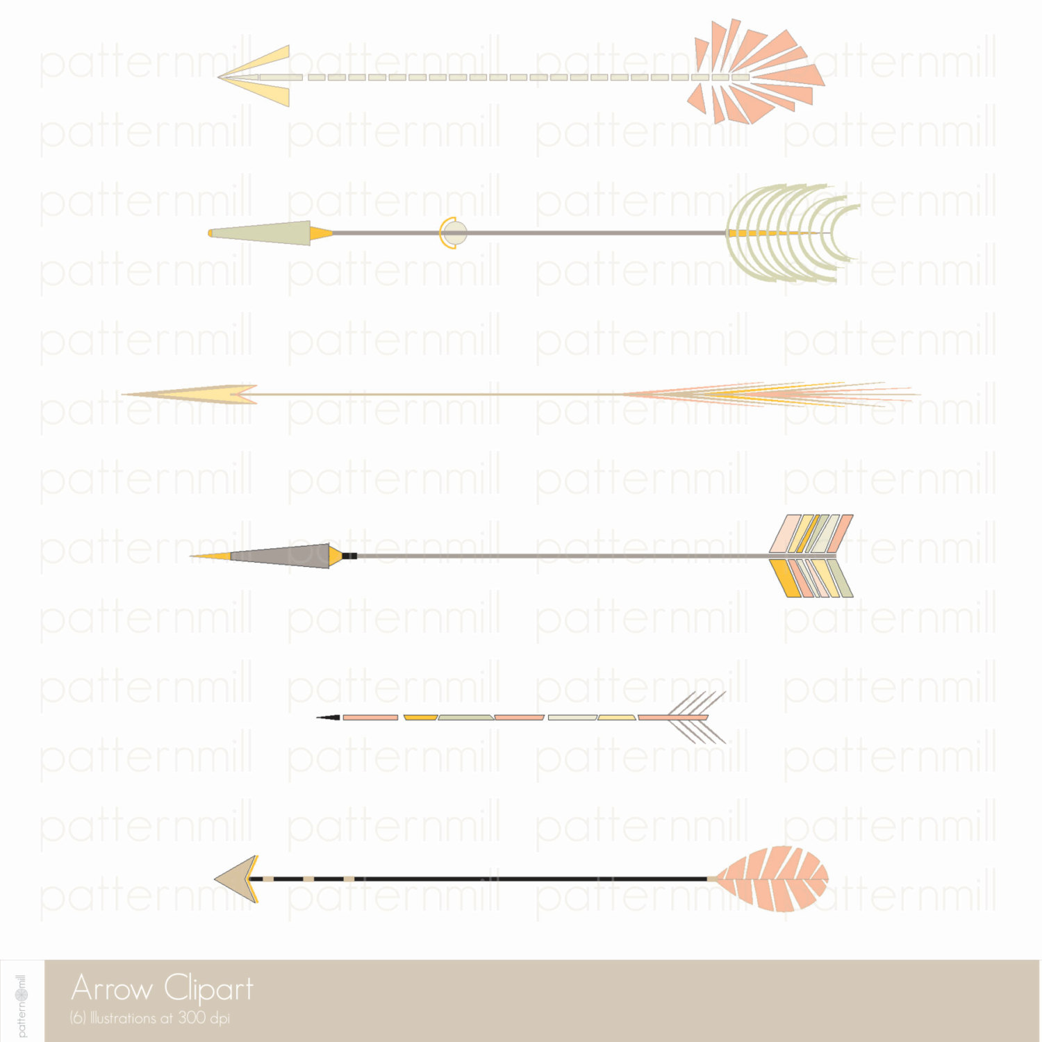 Gold tribal arrow clipart - ClipartFest jpg black and white stock