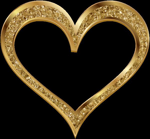 Gold foil heart clipart royalty free Gold Heart Clip Art PNG Image | Heart Love | Pinterest | Clip art ... royalty free