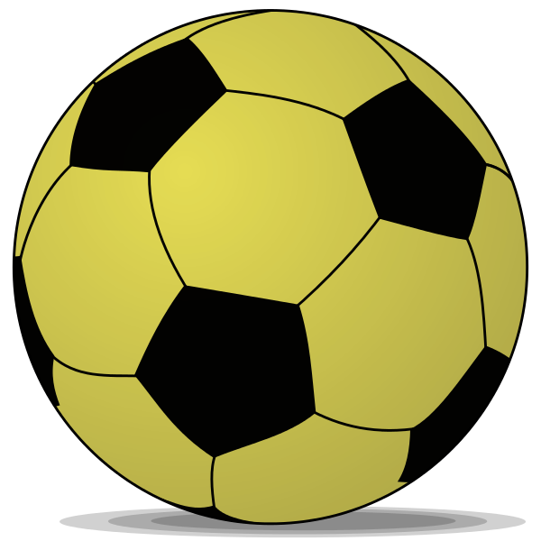 Gold football clipart clipart free File:Soccerball shade gold.svg - Wikimedia Commons clipart free
