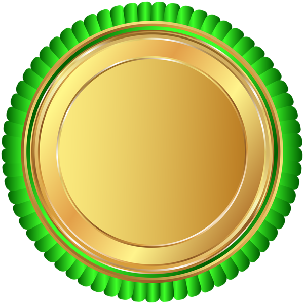 Gold football clipart image Gold Green Seal Badge PNG Clip Art Image | Pita | Pinterest | Art ... image