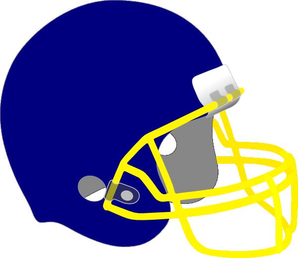 Gold football helmet clipart clipart freeuse download Football Helmet Blue And Yellow Clip Art at Clker.com - vector clip ... clipart freeuse download
