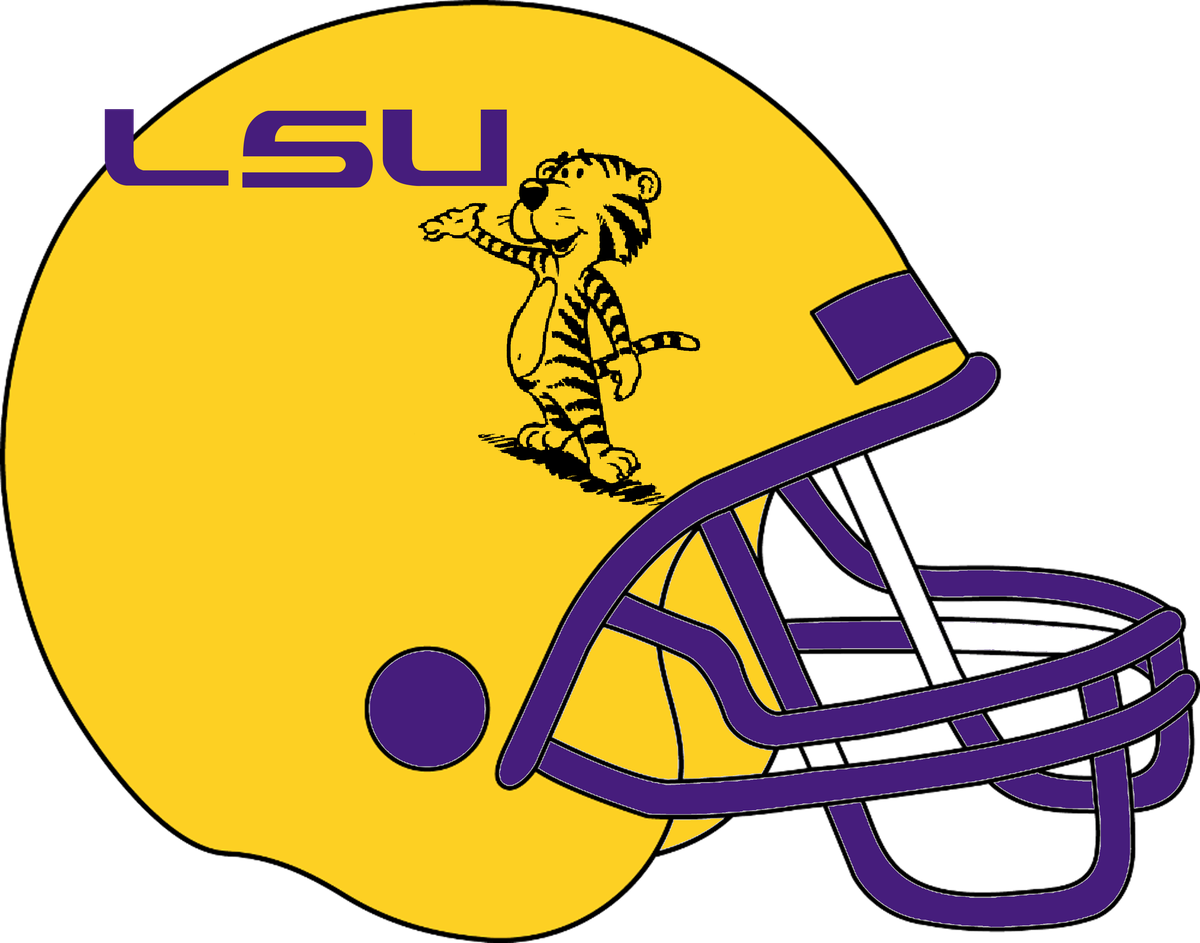 Gold football helmet clipart black and white stock LSU Football Concept Uniforms - And The Valley Shook black and white stock