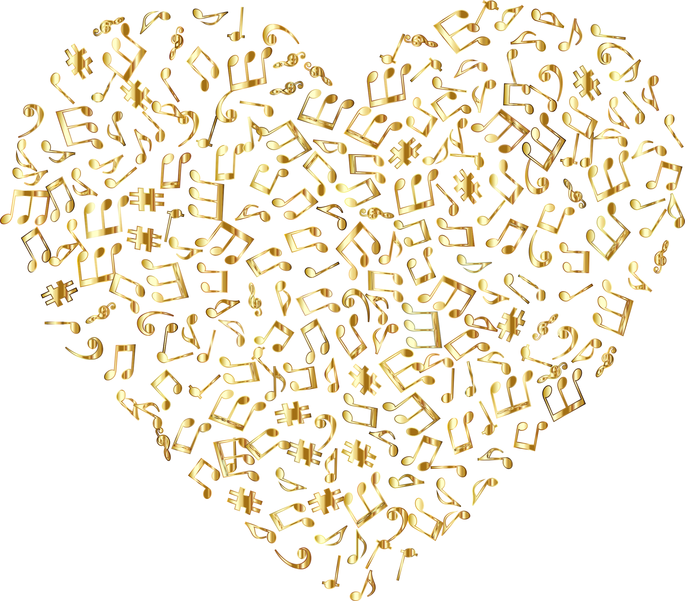 Heart lace clipart jpg freeuse Clipart - Gold Musical Heart 4 No Background jpg freeuse