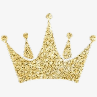Gold glitter princess crown clipart clip black and white Gold Crown Glitter Freetoedit - Gold Glitter Crown Png #225771 ... clip black and white