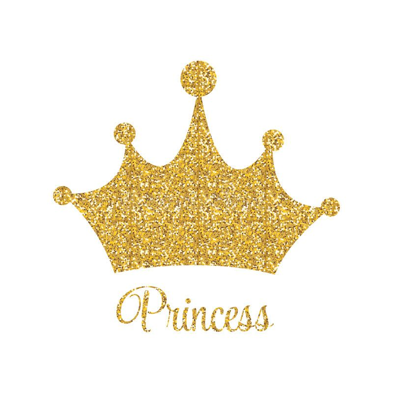 Gold glitter princess crown clipart clip free stock Photo about Princess Golden Glossy Background with Crown Vector ... clip free stock