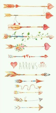 Arrows Watercolor Clipart, Hand Painted Elements, Feather, Wedding ... svg library