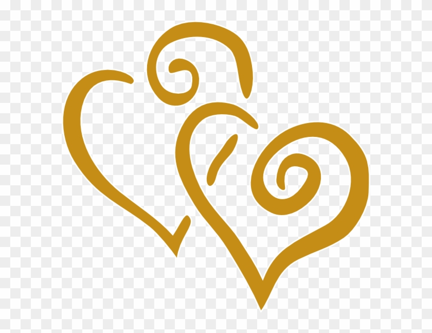 Gold heart clipart free download best glod vector transparent library Golden Clipart Wedding - Gold Heart Clipart, HD Png Download ... vector transparent library