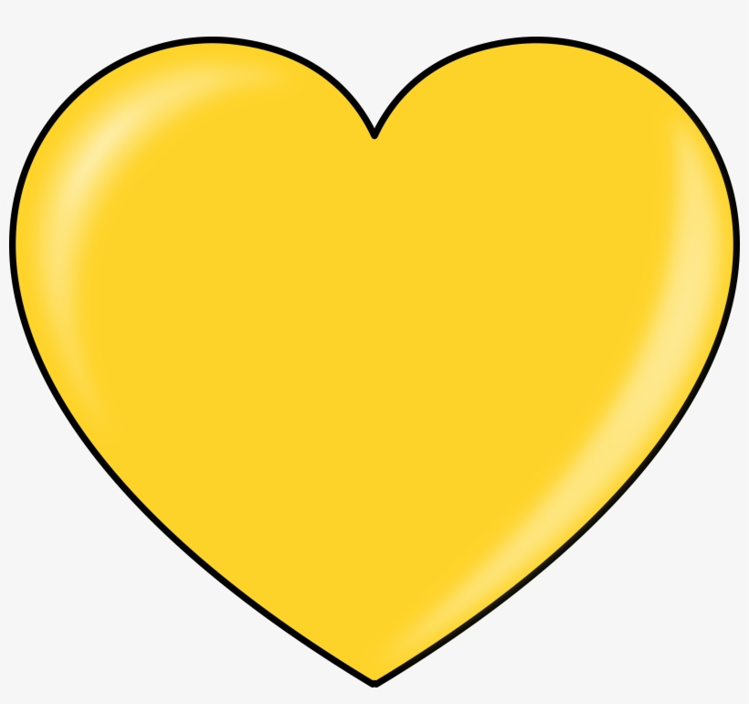 Gold heart clipart free download best glod vector library download Gold Heart Clipart Clipart Best - Heart Yellow Transparent PNG ... vector library download