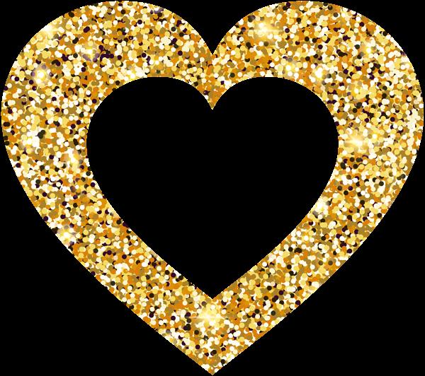 Gold heart clipart free download best glod clip art black and white stock Clip art - golden heart png download - 600*532 - Free Transparent ... clip art black and white stock