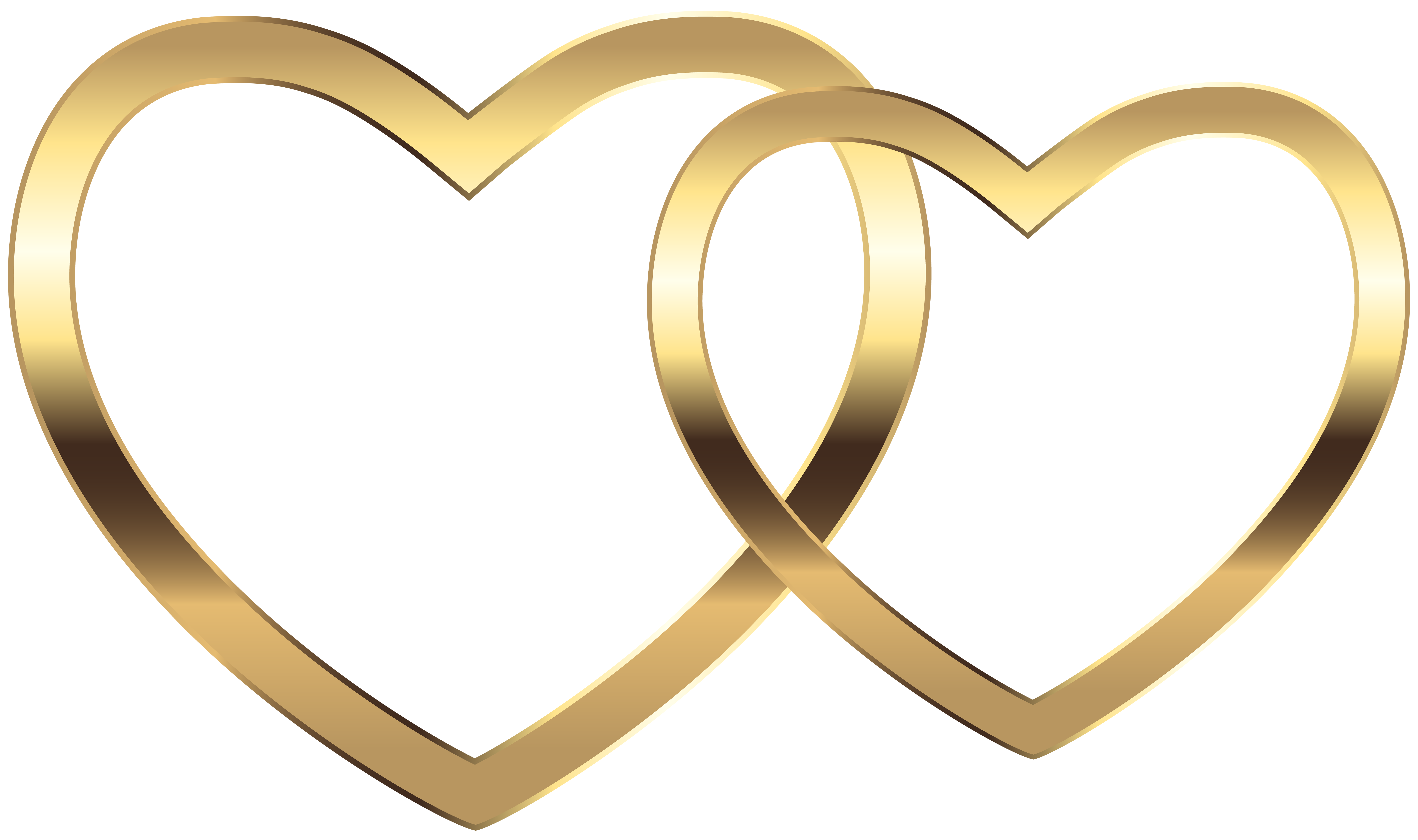 Gold heart clipart free download best glod transparent download Transparent Two Gold Hearts PNG Clip Art Image | Gallery ... transparent download