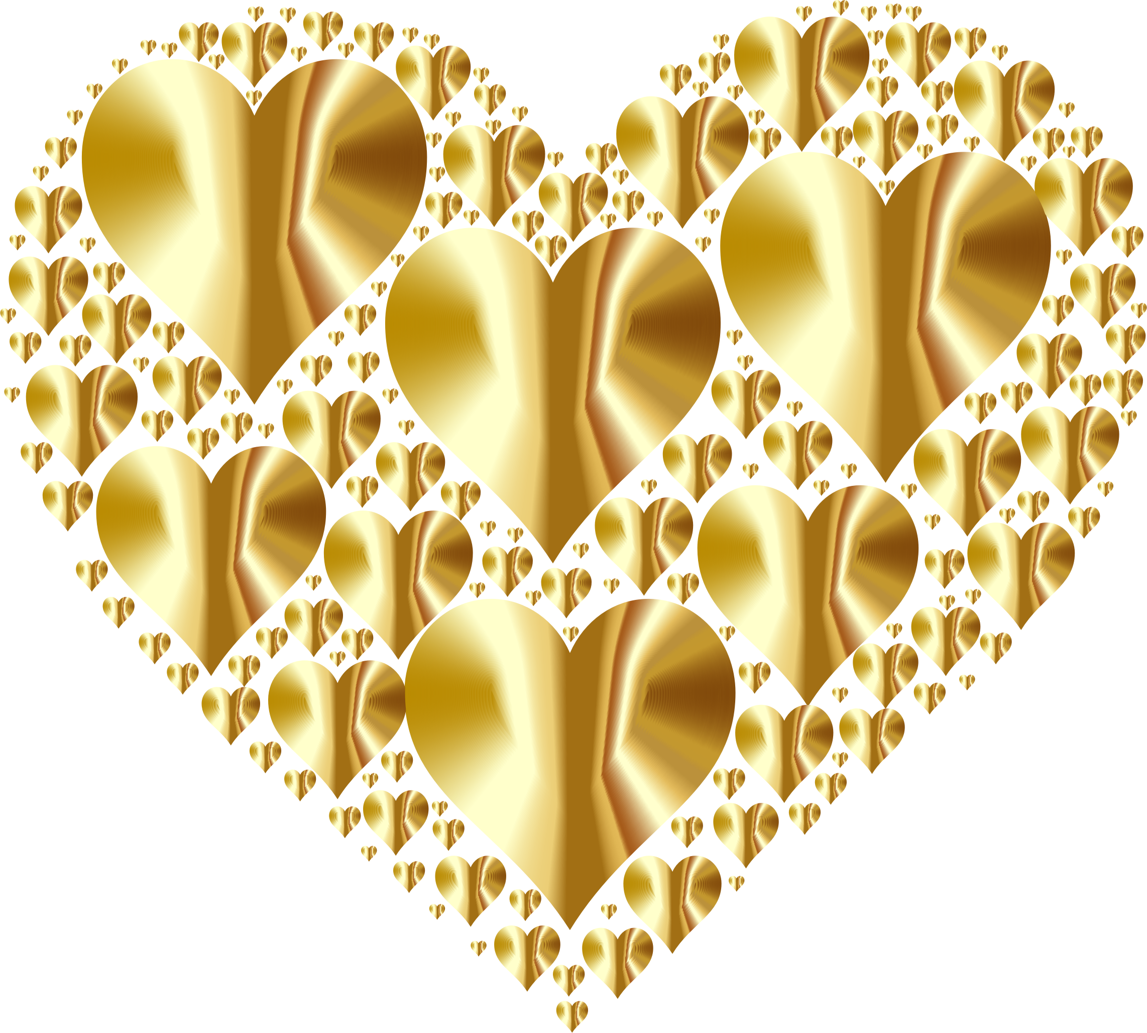 Gold heart clipart no background clipart royalty free stock Clipart - Hearts In Heart Rejuvenated 4 No Background clipart royalty free stock