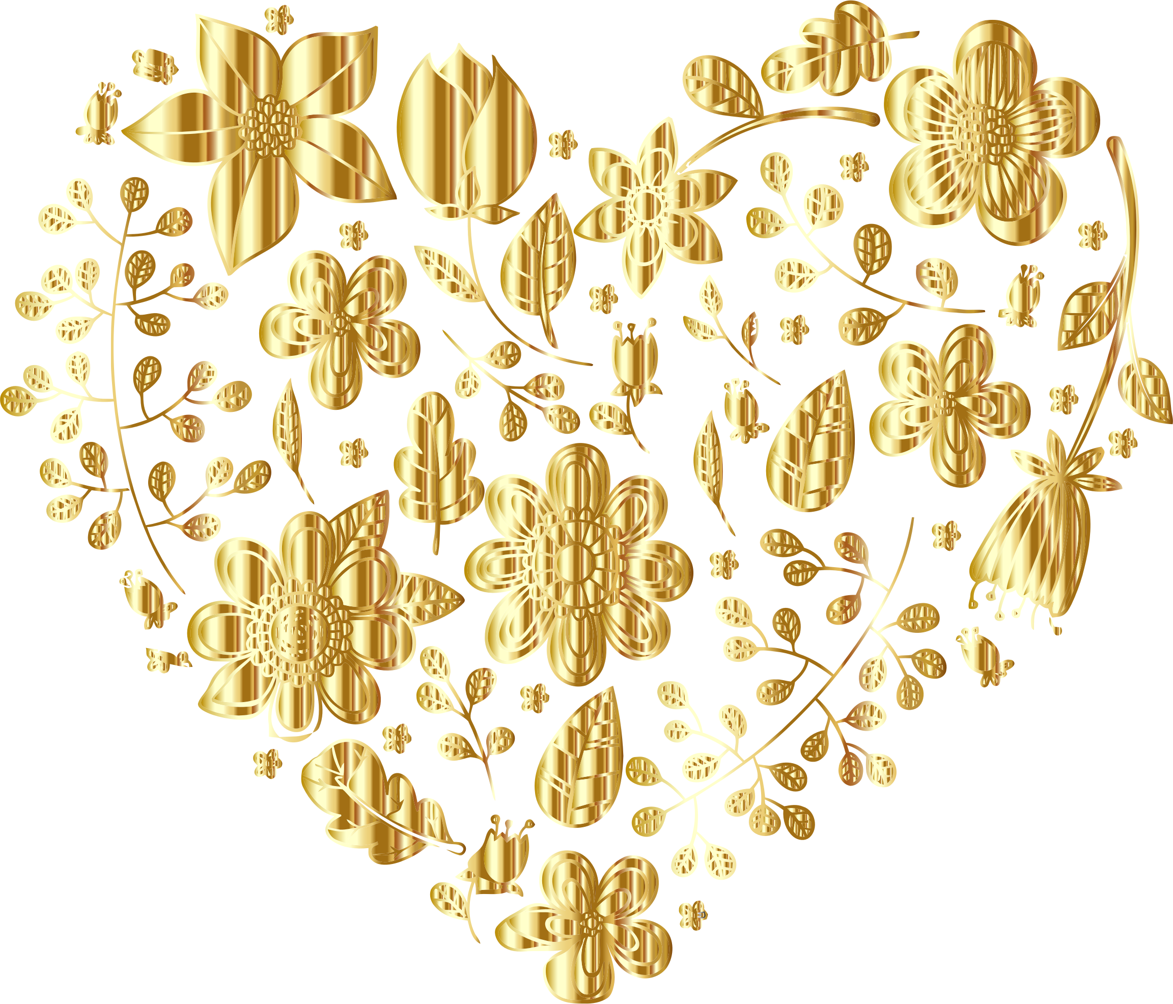 Gold heart clipart no background banner Gold Floral Heart No Background by GDJ | Borders | Pinterest ... banner