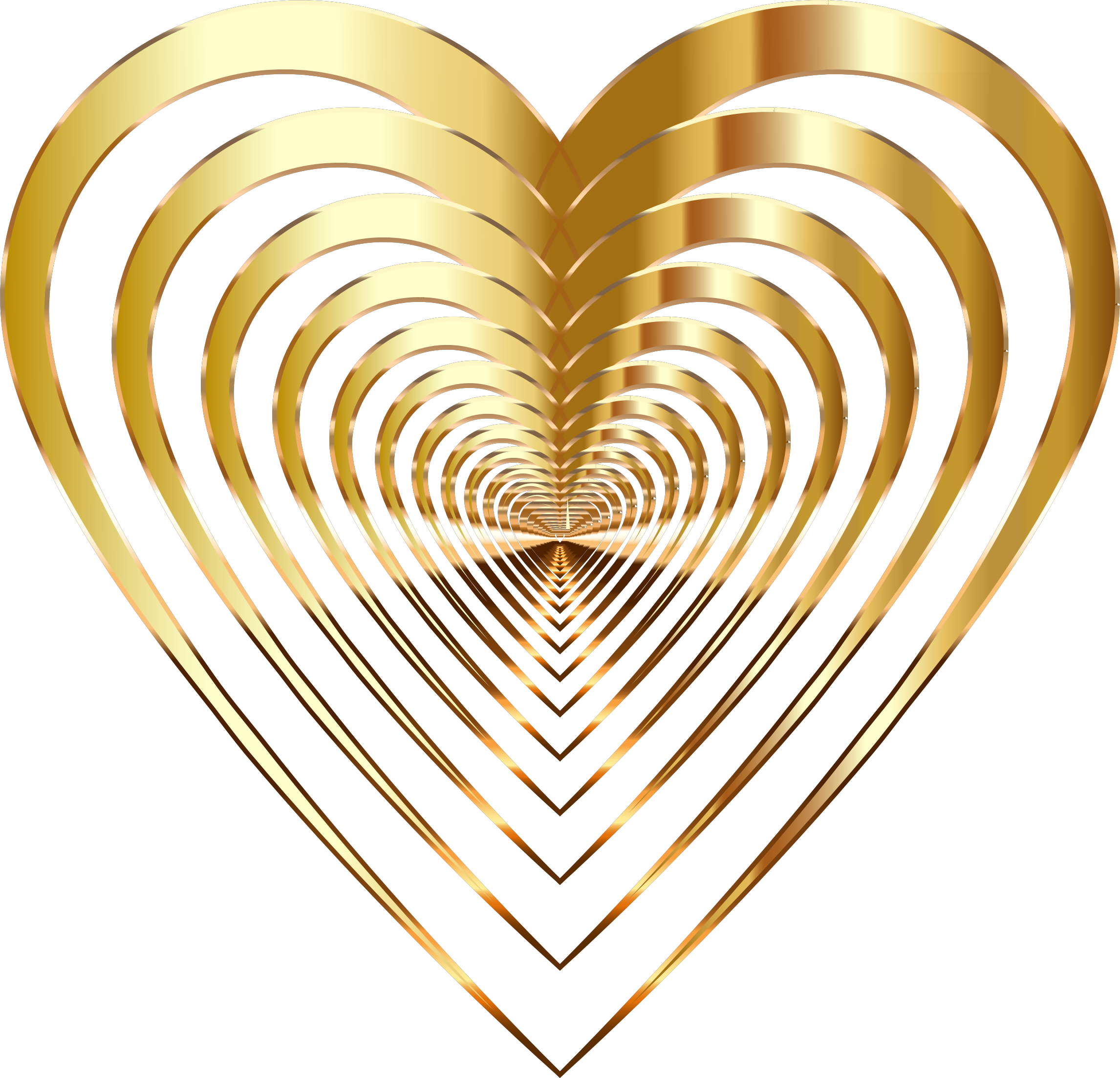 Gold heart clipart no background vector Clipart - Chromatic Love 3 No Background vector