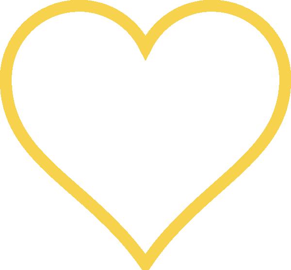 Gold heart outline clipart png transparent library Light Gold Heart Clip Art at Clker.com - vector clip art online ... png transparent library