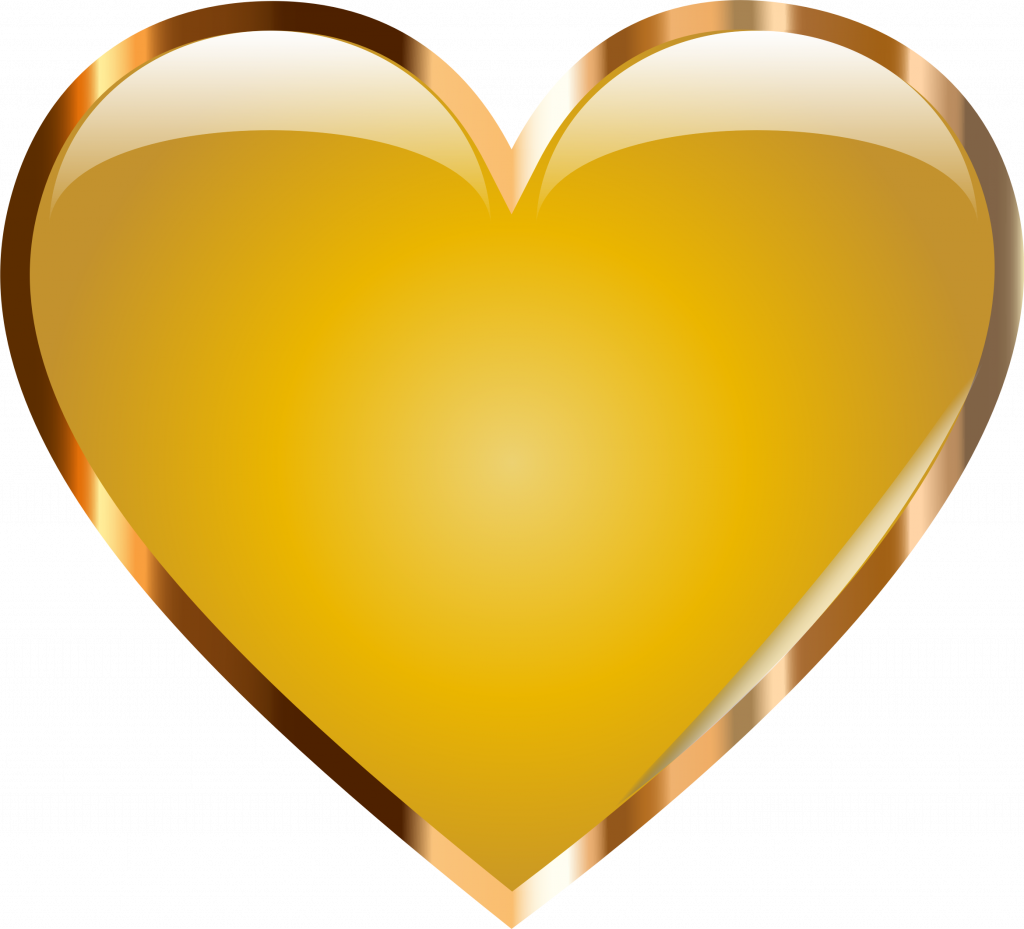 Gold heart outline clipart image freeuse Hd Clipart (41+) Desktop Backgrounds image freeuse