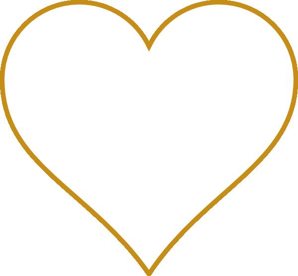 Gold heart outline clipart clip art free Open Gold Heart Clip Art at Clker.com - vector clip art online ... clip art free